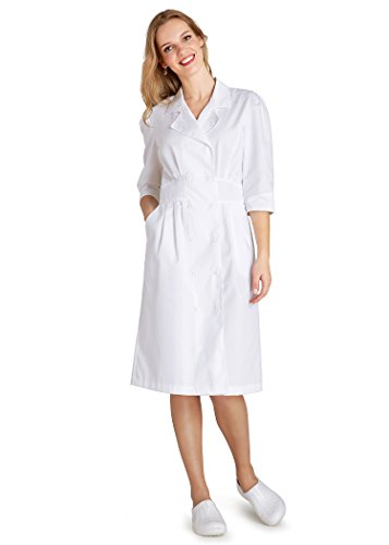 ADAR UNIFORMS Adar Universal Tuck Pleat Midriff Dress - 812 - White - - Usher Uniform