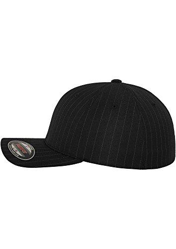 Negro Pinstripe Cap Gorra XL L Flexfit T1Aqxtx