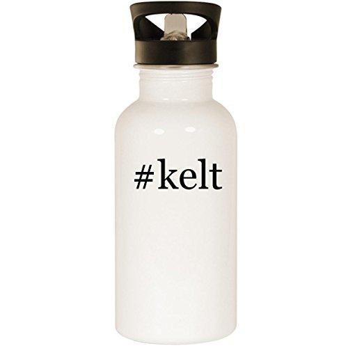 Kelt Cognac - #kelt - Stainless Steel Hashtag 20oz Road Ready Water Bottle, White