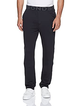 Bonds Men's Basic Logo Trackie, Black, Small