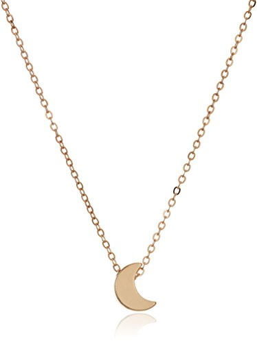 Jewelry Collection Gold (Trendy 3D Moon Charm Fashion Chain Necklace, 18