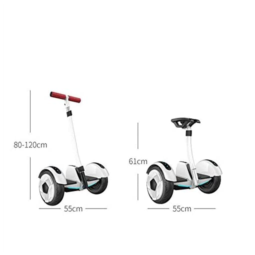 Llpeng Hoverboard Balance Scooter Voiture Auto-équilibrage électrique avec Guidon, Scooter étudiant Adulte à Deux Roues, 25 km, APP, Bluetooth, Double Commande (Color : 36V/Glow/Black)
