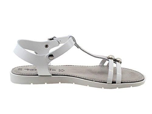 Tamaris 1-1-28176-38 115 - Sandalias de vestir de Piel Lisa para mujer Weiß