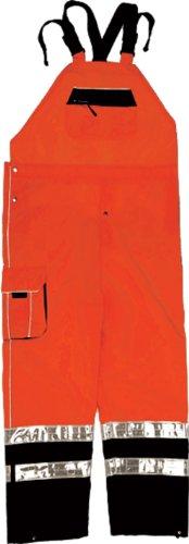ML Kishigo RWB107 Brilliant Series Rainwear Bib, Fits 2X-Large and 3X-Large, Orange by ML Kishigo
