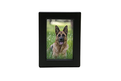 Near & Dear Pet Memorials MDF Photo Urn, 85 Cubic Inch, Black ()