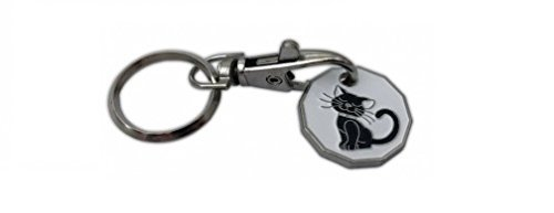 12 Sided Black Cat Trolley Token Keyring St@llion