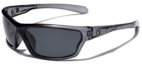 Polarized Wrap Around Sport Sunglasses - Steel - Polarized Around Wrap