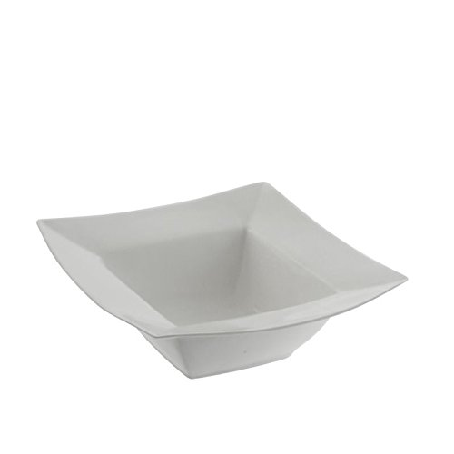 10 Strawberry Street Whittier Squares Bowl in White (Set of 4)