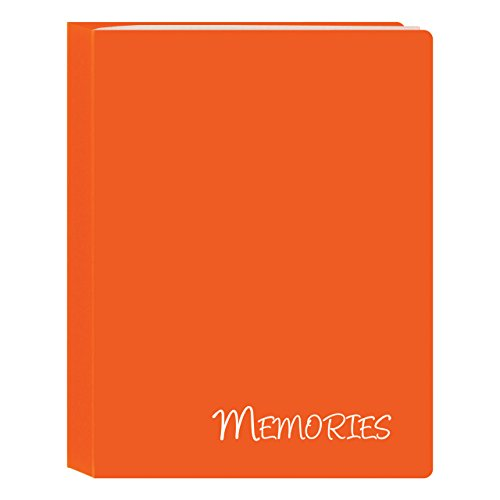 Memories Mini Photo Album (Pioneer Photo Albums I-46M/OG 36 Pockets Hold Memories Mini Photo Album, Orange, 4