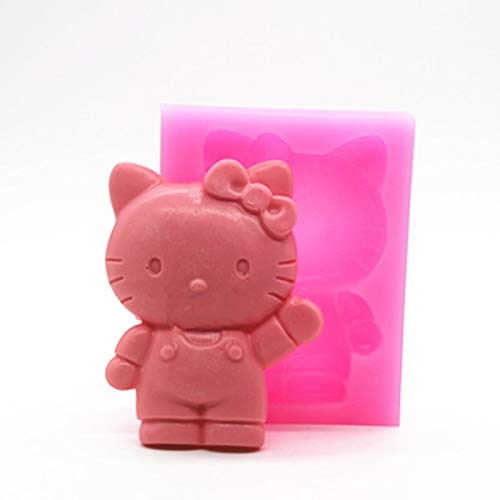 Cake Molds - Wholesale Retal P317 Hello Kitty Cartoon Cake Mold Cat Silicone Mould - Letters Baby Lace Bundt Unicorn Heart Decorating Shape Flowers Numbers Stainless Shapes P]()