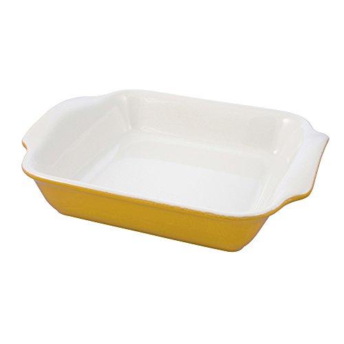 Swissmar Le Cordon Bleu Tendance Square Roasting Dish, 1.7 Quart, Jaune Yellow