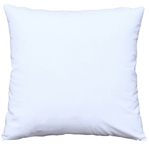 Mosong White Cotton Square Decorative Throw Pillow Case Cushion Cover Pillow Covers for Bed/Kids/Chair 18