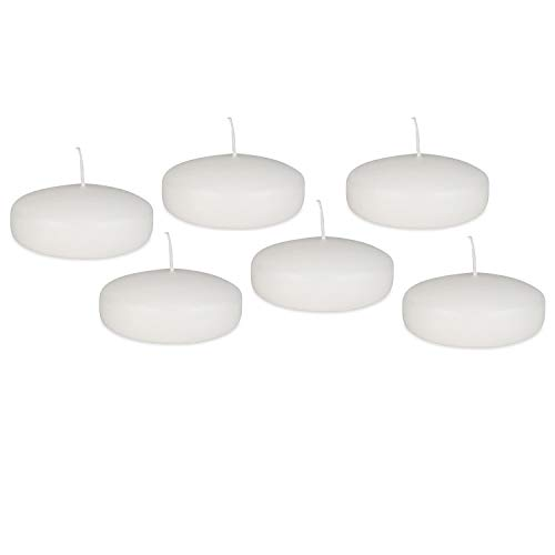 Royal Imports Floating Disc Candles for Wedding, Birthday, Holiday Home Decorations, 3 Inch, White Wax, Set of 72 by Royal Imports