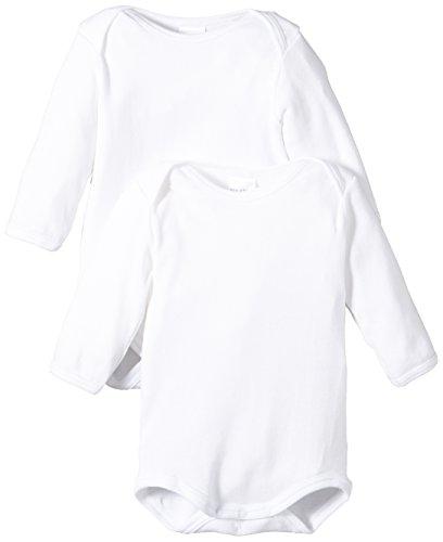 Schiesser Baby - Jungen Body 2 er Pack 220154-100, Gr. 80 (9M), Weiß (100-weiss)