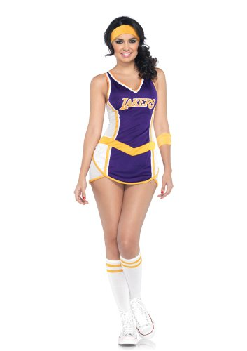 Leg Avenue NBA 2 Piece Lakers Player Dress, Purple/Gold, Medium/Large