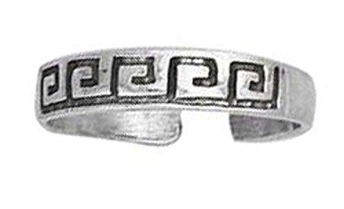 Greek Key Toe Ring - 2
