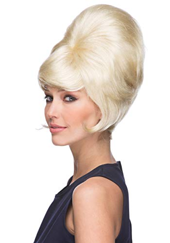 Beehive Wig Color Blonde - Sepia Wigs B-52 1960s Theater Womans Ladies Beahive Side Curl Motown Dreamgirls Bundle MaxWigs Costume Care Booklet