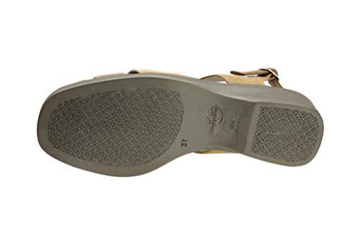 Mujer Cómodo Sandalia Duna Cuña Zapato 4572 Piesanto Ante Pq5Txw