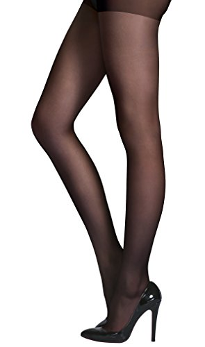 HONENNA Women's Reinforced Toe Semi Sheer Opaque Tights Panty Hose
