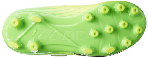 Puma Evospeed 17.5 Ag V Ps, Botas de Fútbol Unisex Niños Amarillo (Safety Yellow-puma Black-green Gecko 01)