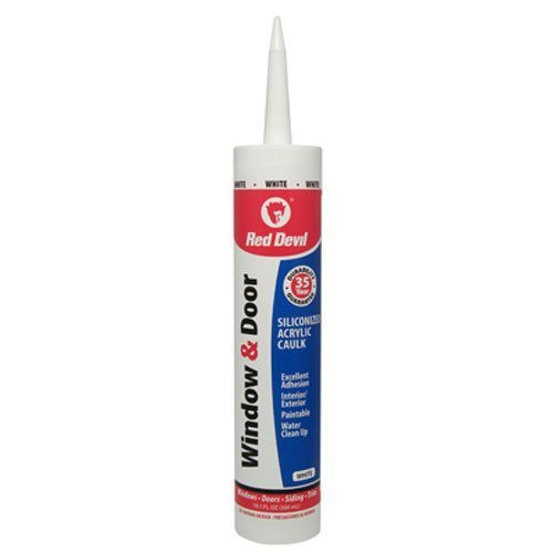 Red Devil 084612 0846 Window & Door Siliconized Acrylic Caulk Case of 12, White by Red Devil