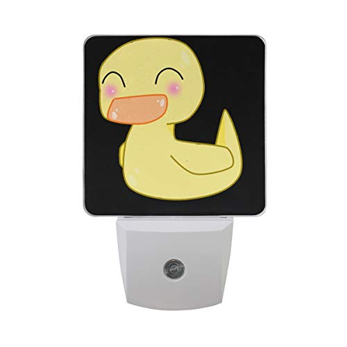 Night Light Smile Duck Led Light Lamp for Hallway, Kitchen, Bathroom, Bedroom, Stairs, DaylightWhite, Bedroom, Compact ()