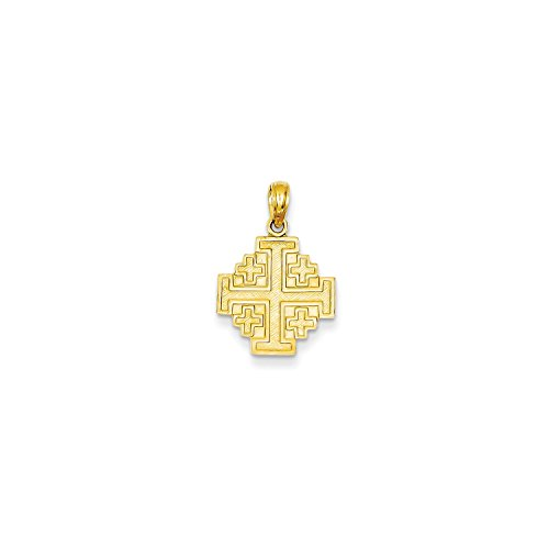 Roy Rose Jewelry 14K Yellow Gold Jerusalem Cross Pendant 14k Yellow Gold Jerusalem Cross