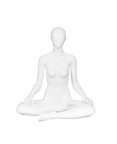 Newtech Display MAF-A1-YOGA3/SW Headless ''Ohm'' Sitting Yoga Mannequin, Glossy White by Newtech Display