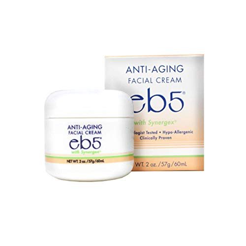 eb5 Classic Anti-Aging Facial Cream with Synergex, Clinically Proven Hypo-Allergenic Anti-Wrinkle Relief, 2 oz