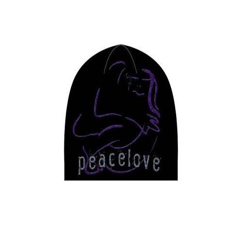 John Lennon Peace Love Logo Black Beanie - John Style Hat Lennon