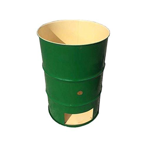 【塗装無】 緑 ドラム缶焼却炉 オープンドラム 200L 焼却炉 納期3週間 代不 B01NAYH0K8 15000