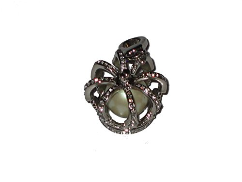 Juicy Couture Women's Crown Faux Pearl Silver Charm Yjruoc10