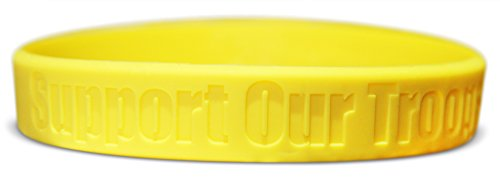 [Novel Merk Support Our Troops Desert, Camouflage & Yellow Silicone Rubber Band Wristband Bracelet Accessory (2] (United Nations Costumes For Women)