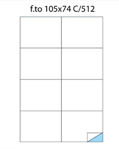 Confezione Da 100 fogli Senza Margine Formato A4 Incluso Pratico Calendario Tascabile Etichette Autoadesive Formato 105x74 mm