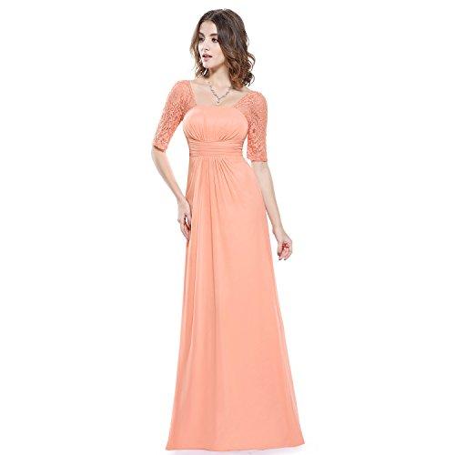 MEI&S Vintage mujer elegante vestido de Prom Larga Noche Maxi vestido de fiesta Orange