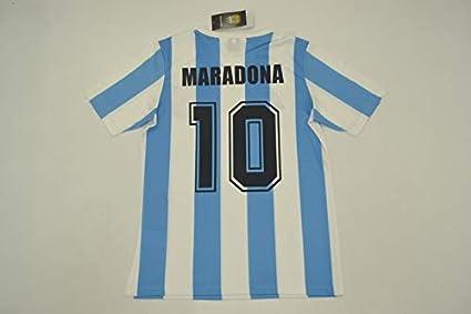 c6e2678cd0c Amazon.com   Retro Maradona 10 Argentina Home Soccer Jersey 1986 ...