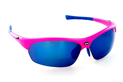 XX2i Optics Men's FRANCE1 Reader Sunglasses Brown Tinted Lens Hyper Pink - Xx2i Sunglasses