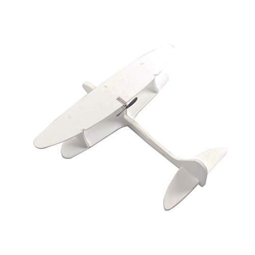 UMFun Throwing Glider Aircraft Foam Hand Launch Airplane Plane Model Toy for Kids White]()