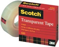 Non Yellowing Photo Safe Dispenser (3M Scotch Transparent Tape - 0.5