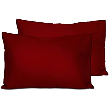 For Pillows Sized 13x18 and 14x19-100/% Cotton With Sateen Weave Machine Washable Envelope Style 2 Dark Brown Toddler Pillowcases 2 Pack