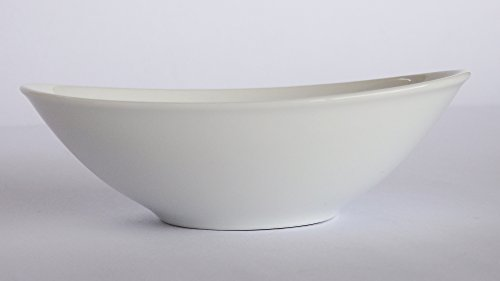 Checkout (Set of 4) Amatahouse Elegant Oval Soy Sauce Dish Sushi Wasabi Plates Soy Sauce Dipping Bowls Royal Porcelain Classic White 3-3/4 inch Barbecue Bowl #0299 online