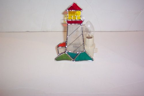 Stained Glass Lighthouse Night Light New [9009-62]