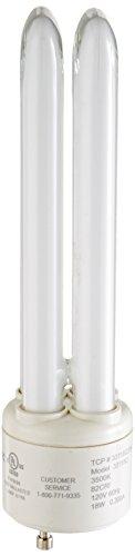 (TCP 33118Q35K Fluorescent PL Quad Tube - 75 Watt Equivalent (only 18w used) Bright White (3500K) 1150 Lumens - GU24 Base)