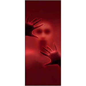 Joiedomi Halloween Haunted House Decoration Window Door Cover Creepy Scary Zombie Bloody 72X30 Inches
