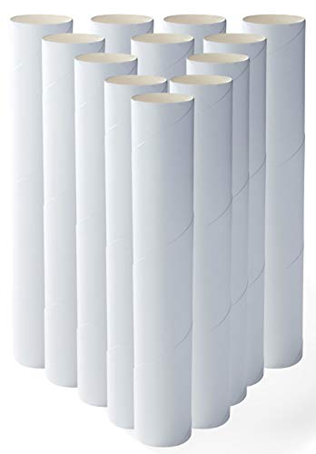 Genie Crafts 12-Pack Craft Rolls - 10 Inch Paper Cardboard Tubes for Kids, DIY, Classroom and Art Projects, -