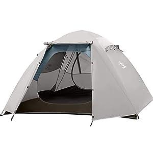 Bessport Camping Tente 1 et 2 Personnes et 4 Personnes Ultra Légère Facile à Installer Tentes Dôme Double Couche Tente 4…