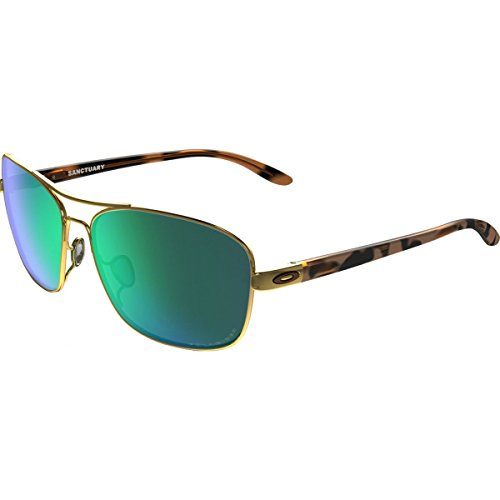 Oakley Womens Sanctuary Polarized Sunglasses, Polished Gold/Jade Iridium, One Size