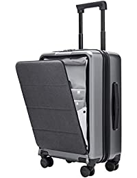 NINETYGO Carry On Luggage with Spinner Wheels,20 Inch Hardside Lightweight Hardshell TSA Compliant Suitcase with Front Pocket Lock Cover