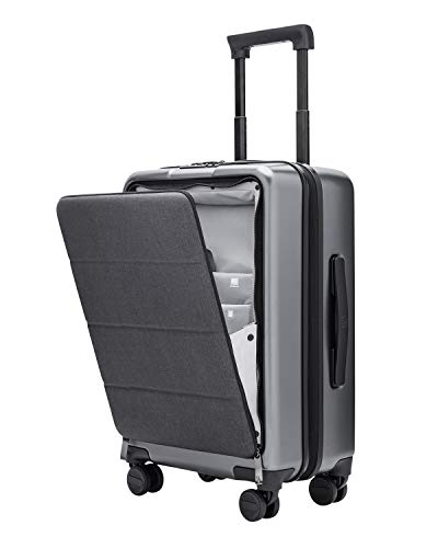 NINETYGO Carry On Luggage with Spinner Wheels, Hardside Lightweight Hardshell TSA Compliant Suitcase with Front Pocket Lock Cover