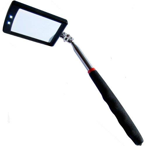 WBOY Telescoping LED Lighted Inspection Mirror Flexible 360 Swivel Adjust Tools For Extra Viewing WX JL Wujin Factory